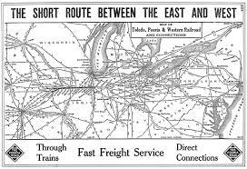 Toledo Map The Toledo Peoria And Western Railway