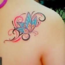 butterfly on back shoulder for tattooshunt com