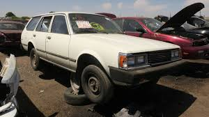 toyota car yard 1981 toyota corona in the junkyard with photos