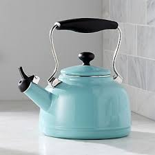 Aqua Bed Warmer Teapots Tea Kettles And Warmers Crate And Barrel
