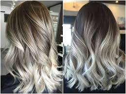 highlights for gray hair photos ash blonde balayage and silver ombre hair color ideas 2017