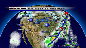 Houston Weather Map 2016 Nfl Weather Forecast Week 15 Single Digit Temperatures For