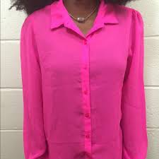 neon blouse 35 russe tops neon pink chiffon blouse from