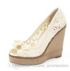 wedding shoes wedges black white lace open toe wedding shoes wedges heels platform rope