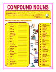 compound nouns interactive worksheet