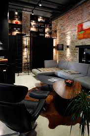 apartment uv goes modern industrial using exposed metal brick and