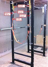 power rack safety straps garage gym guy