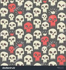 cute halloween pattern background hand drawn evil skulls seamless pattern stock vector 320192030