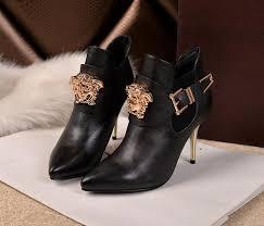 womens boots in versace womens black boots heels 16982213 126 00