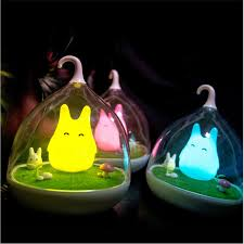 newest design l totoro portable touch sensor usb led