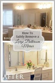 Bathroom Mirror Remodel by Cut A Bathroom Mirror Tutorial Video Large Bathroom Mirrors