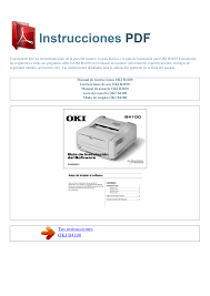 download free pdf for oki b4100 printer manual