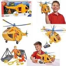 firefighter sam wallaby ii helicopter yellow pilot tom light mech