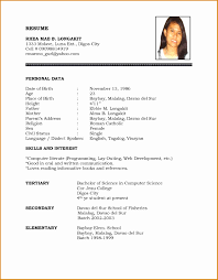 simple resume format for freshers documents simple resume template word zafu co