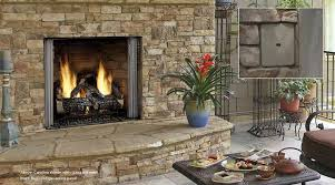 Outdoor Fireplace by Fireplaces Therm Con