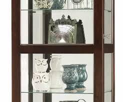 Curio Cabinets Shelves 680577 Howard Miller Seven Levels Display Contemporary Curio Cabinet