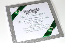 Silver Wedding Invitations Embellished Paperie Blog Gorgeous Emerald Green And Silver