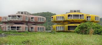 homes in the 1980s photos show abandoned sanzhi pod city in taiwan holiday homes built