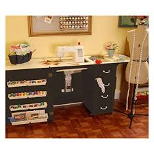 sewing tables by sara amazon com norma jean wooden sewing table desk finish black arts