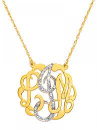 Monogram Jewlery Diamond Script Monogram Necklace Baublebar