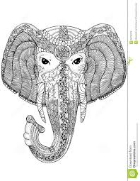 coloring book page for adults elephant stock vector image