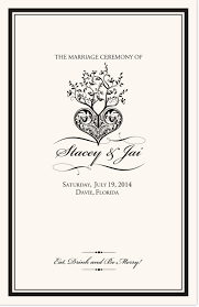 programs for a wedding ceremony tree of heart wedding programs church programs wedding