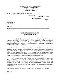 autopsy report sample judicial affidavit with autopsy report affidavit perjury