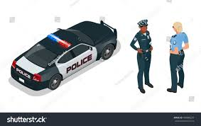 police car police car woman uniform stock vector 498080239 shutterstock