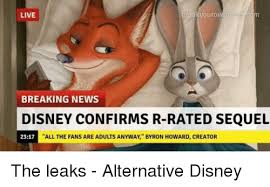 R Rated Memes - yourown live breaking news disney confirms r rated sequel all the