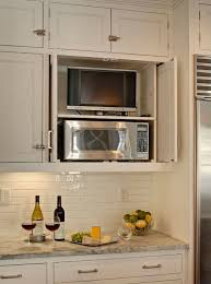 kitchen microwave ideas clever way to hide the tv microwave in the kitchen diy decor