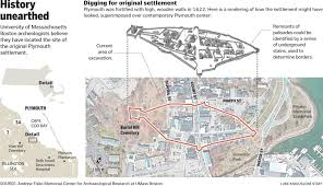 Map Of T Boston by Clues To Pilgrims U0027 Original Settlement Unearthed The Boston Globe