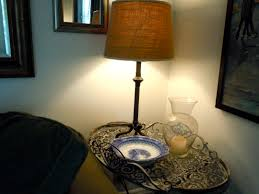 lighting creative burlap lamp shade for home lighting ideas