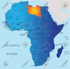 Map Showing Equator Political Map Of Africa Libya Royalty Free Cliparts Vectors And