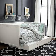 parsons contemporary white trundle daybed