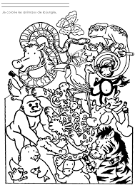 animaux sauvages de la jungle 9 animaux u2013 coloriages à imprimer