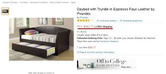 my review daybed with trundle in espresso faux leather by poundex