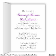 Wedding Invitation Greeting Cards Blended Family Wedding Invitation Blended Family Weddings