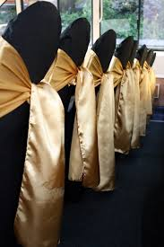 Gold Chair Sashes This Give You A Good Idea Of What It Would Look Like If We Used
