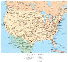map of us cities us map of all airports united states map with countries capitals