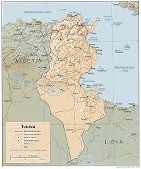 tunisia physical map maps of tunisia