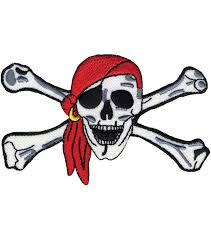 wrights iron on appliques pirate skull crossbones 1 3 4 x1 1 2