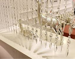 Party Chandelier Decoration Buy Ujoy 39 Faux Crystal Chandelier Wedding Bead Strands For Home