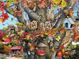 owl family reunion jigsaw puzzle puzzlewarehouse