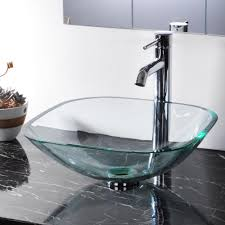 green glass vessel bathroom sinks bathroom tempered glass vessel sink natural clear square shape