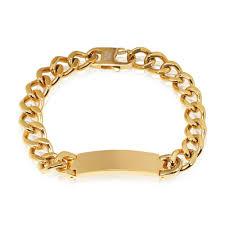 customized gold bracelets gold men s stainless steel id bracelet gold bracelets for men