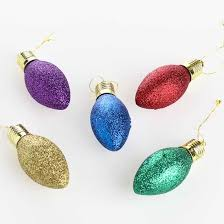 assorted glitter light bulb ornaments ornaments