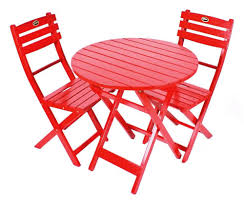 Red Patio Furniture Sets - amazon com jordan manufacturing wooden bistro set red outdoor