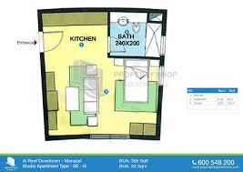 Studio Floor Plan by Floor Plan Of Al Reef Downtown Al Reef Village