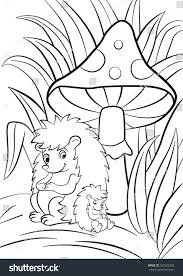 coloring pages hedgehog little cute baby stock illustration