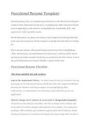 career change resume template cover letter career change functional resume template for career